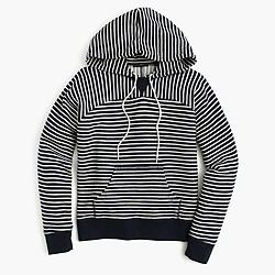 Paneled terry hoodie
