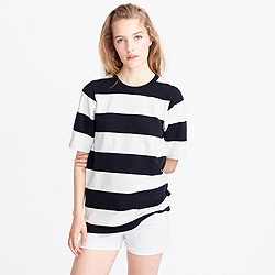 Short-sleeve rugby-stripe T-shirt