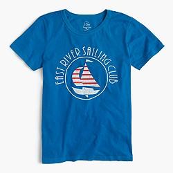 Sailboat garment-dyed T-shirt