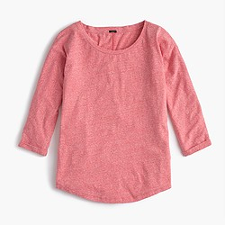 Dolman T-shirt in slub cotton