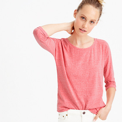 Dolman T-shirt in slub cotton
