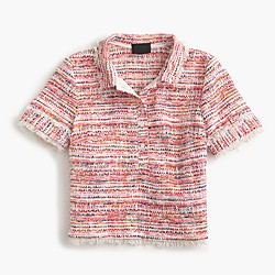 Collection polo shirt in Italian tweed