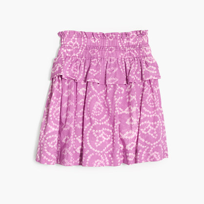 Girls' batik tiered pull-on skirt