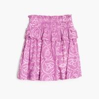 Girls' batik tiered pull-on skirt