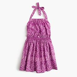 Girls' batik halter sundress