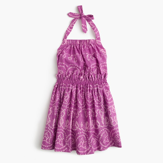 Girls' batik halter sundress