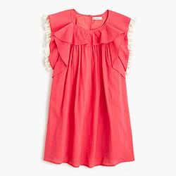 Girls' tassel gauze dress