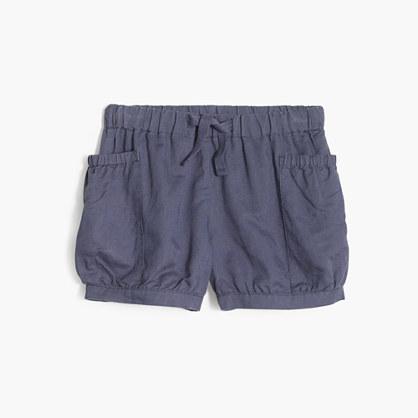 Girls' cotton-linen bloomer short