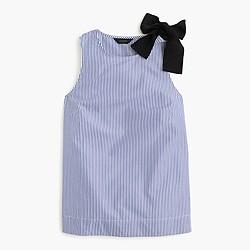 Bow-shoulder top in stripe