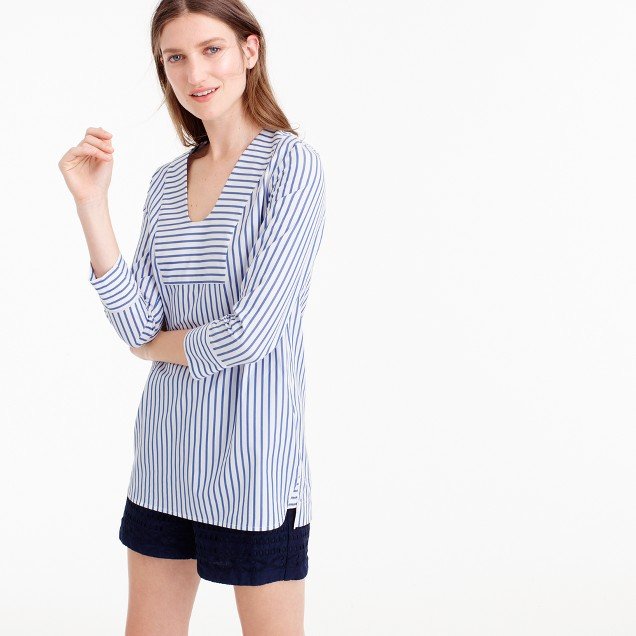 Collection Thomas Mason® for J.Crew scoopneck tunic in classic stripe