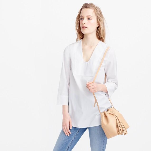 Collection Thomas Mason® for J.Crew scoopneck tunic in white
