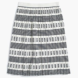 Pleated sweater-skirt in stripe