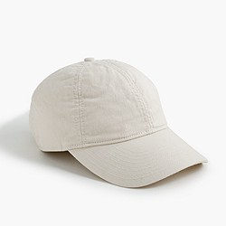 Solid cotton baseball cap