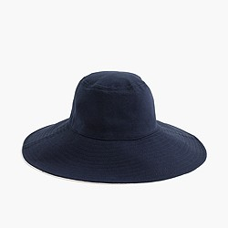 Floppy brimmed hat