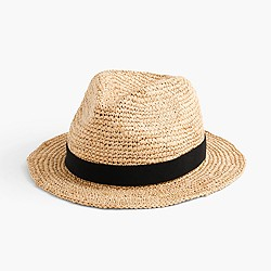 Packable straw hat