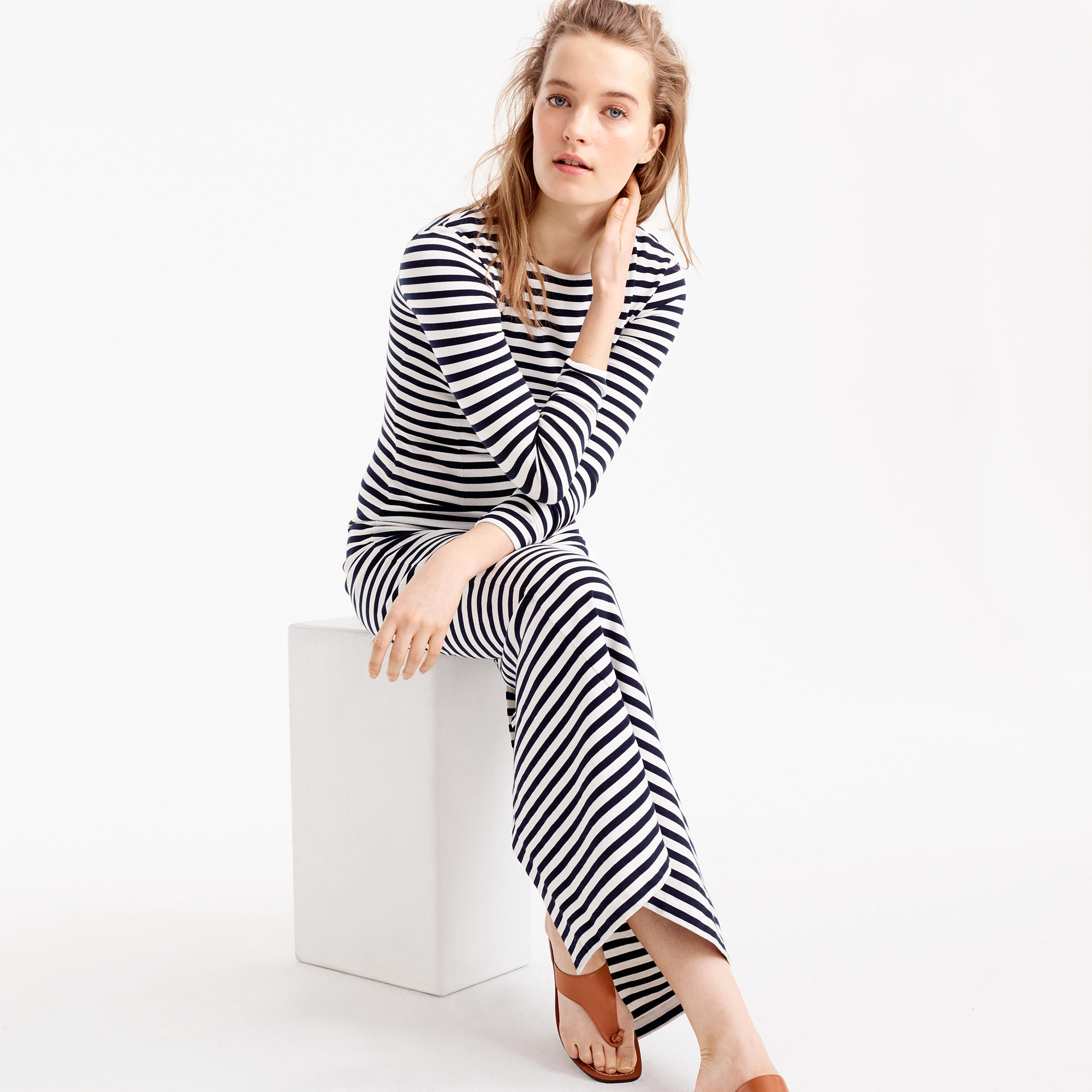 Long-Sleeve Striped Maxi Dress : Women&39s Dresses  J.Crew