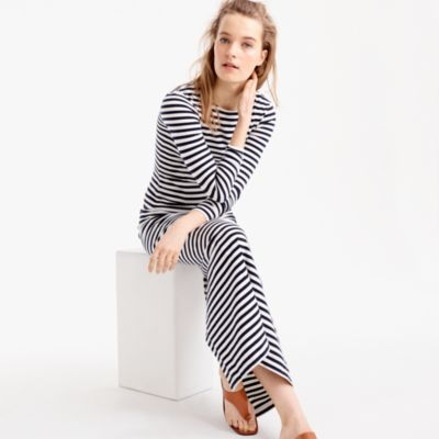 Long-Sleeve Striped Maxi Dress : Women's Dresses | J.Crew