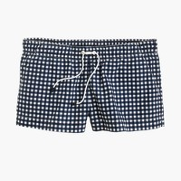 Board short in gingham