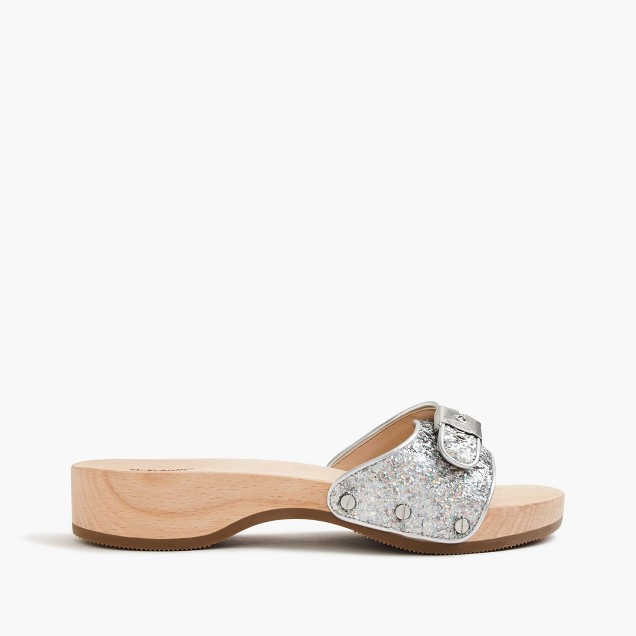 Dr. Scholl's® for J.Crew sandals in hologram glitter