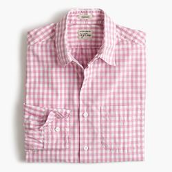 Secret Wash shirt in pink gingham