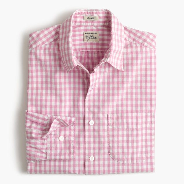 Secret Wash shirt in pink gingham