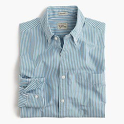 Slim Secret Wash shirt in red stripe