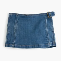 Girls' denim skort