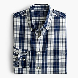 Secret Wash shirt in indigo plaid