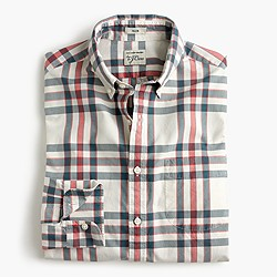 Slim Secret Wash shirt in alabaster plaid
