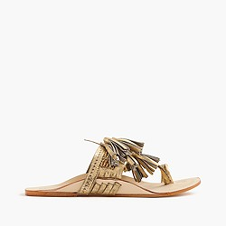 Figue® metallic scaramouche sandals