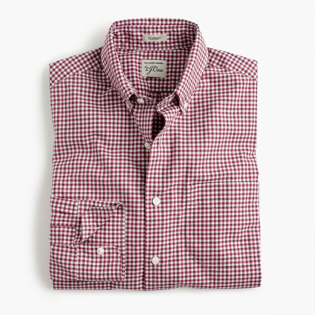 Secret Wash shirt in faded burgundy check