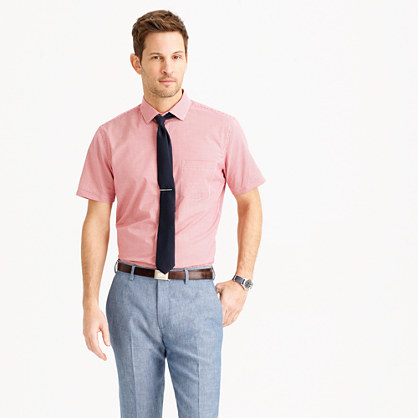 Ludlow short-sleeve shirt in red gingham