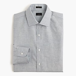 Crosby shirt in end-on-end Irish cotton-linen