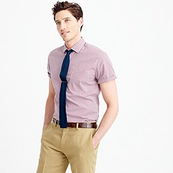 Thomas Mason® for J.Crew Ludlow short-sleeve shirt in red tattersall