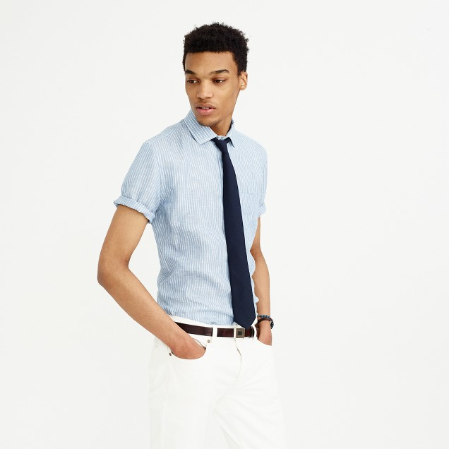 Thomas Mason® for J.Crew Ludlow short-sleeve Italian linen shirt