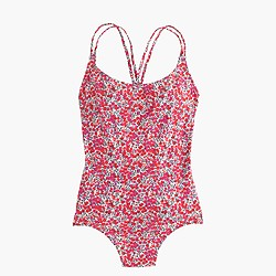 Strappy one-piece swimsuit in Liberty Art Fabrics Wiltshire print