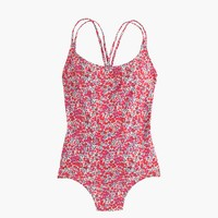 Long torso strappy one-piece swimsuit in Liberty Art Fabrics Wiltshire print
