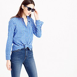 Tall boy shirt in two-tone crinkle gingham