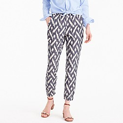 Petite seaside pant in ikat