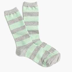 Colorblock stripe trouser socks