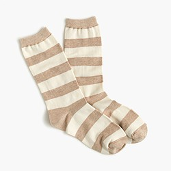 Colorblock stripe trouser socks
