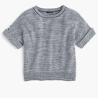 Striped popover sweater