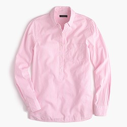 Popover shirt in pink stripe