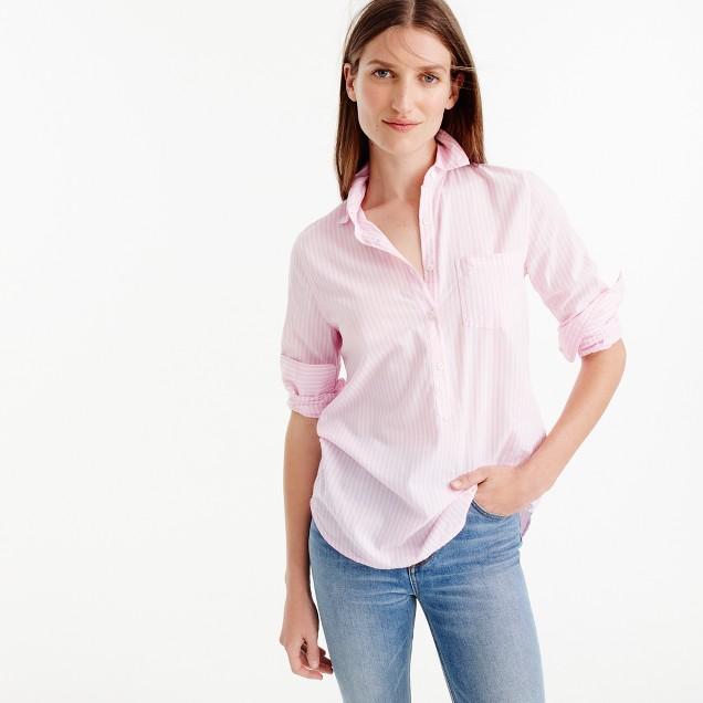 Popover shirt in pink stripe