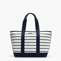 Surfside canvas tote bag in stripe