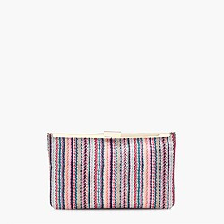 Woven striped clutch