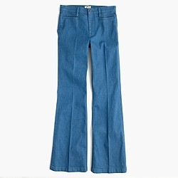 Ashbury flare jean in Palmetto wash