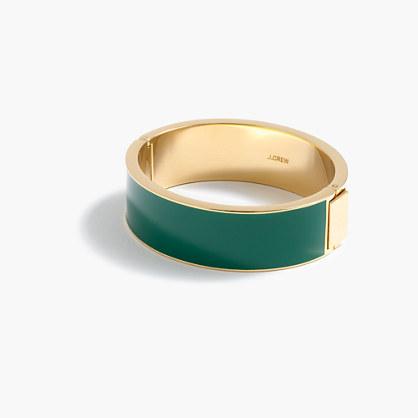Wide enamel bracelet