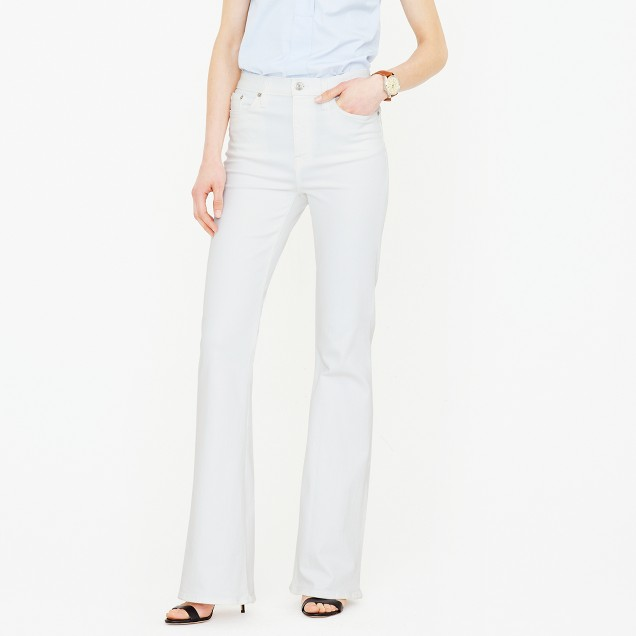 Ashbury flare jean in white