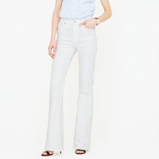 Ashbury flare jean in white